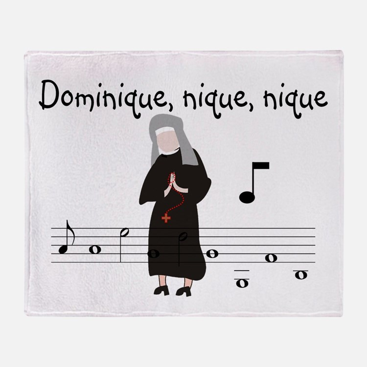 Dominique.PNG Throw Blanket