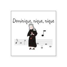 """Dominique.PNG Square Sticker 3"""" x 3"""""""