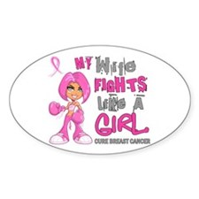 Fights Like a Girl 42.9 Breast Cancer Stickers