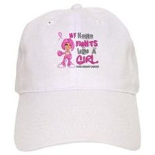 Fights Like a Girl 42.9 Breast Cancer Baseball Cap