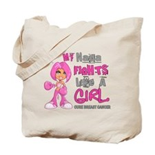 Fights Like a Girl 42.9 Breast Cancer Tote Bag