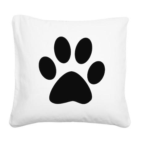 Paw Print Square Canvas Pillow
