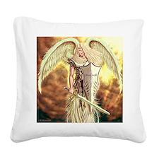 Archangel Michael Square Canvas Pillow
