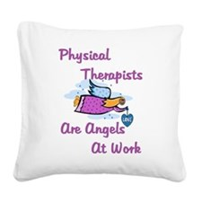 Physical Therapy Square Canvas Pillow