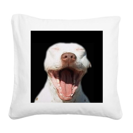 Pitty Yawn Square Canvas Pillow