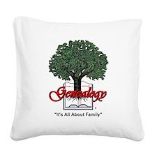 Genealogy Square Canvas Pillow