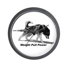 Weight Pull Power Wall Clock