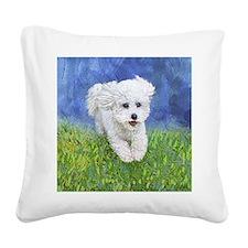 Cute Purebred dogs Square Canvas Pillow