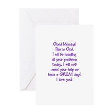Good Morning from God Greeting Card