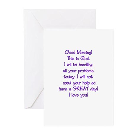 Good Morning from God Greeting Cards (Pk of 10)