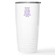 Good Morning from God Travel Mug