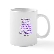 Good Morning from God Small Mug