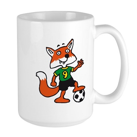 soccer fox Large Mug