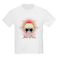 bmx,flaming skull T-Shirt
