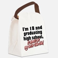 18 AND GRAD.png Canvas Lunch Bag