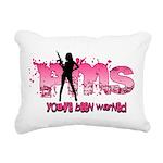 PMS You've Been Warned Rectangular Canvas Pillow