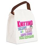 Knitting Kitten Canvas Lunch Bag