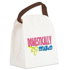 Domestically Disabled Canvas Lunch Bag
