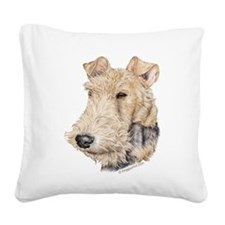 Fox Terrier Square Canvas Pillow