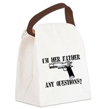 Unique Dads against daughter dating Canvas Lunch Bag