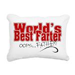 World's Best Farter (oop Rectangular Canvas Pillow