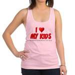 I Love My Kids Racerback Tank Top