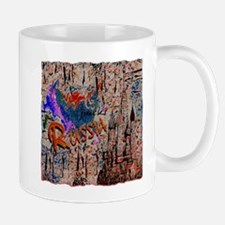 russia abstract crayon effect art illustration Mug