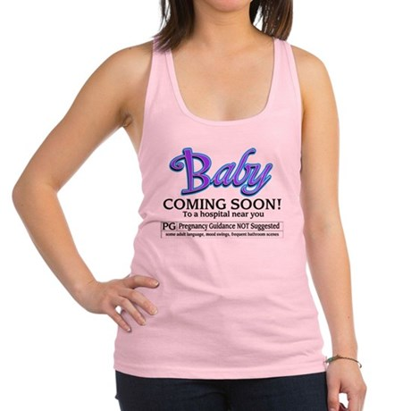 Baby - Coming Soon! Racerback Tank Top