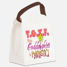 Fantastic Goddaughter Canvas Lunch Bag