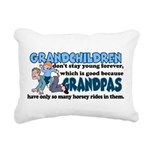Grandpa's Horsey Rides Rectangular Canvas Pillow