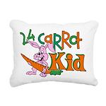 24 Carrot Kid Rectangular Canvas Pillow
