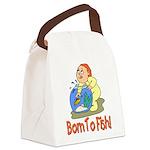 borntofish.png Canvas Lunch Bag
