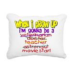 whenigrowup.png Rectangular Canvas Pillow