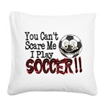 Soccer - No Fear Square Canvas Pillow