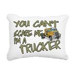 No Fear Trucker Rectangular Canvas Pillow