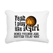 Play Like a Girl - Basketball Rectangular Canvas P