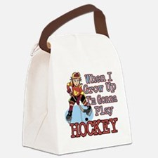 When I Grow Up Hockey Canvas Lunch Bag