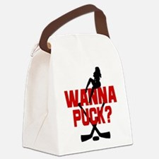 Wanna Puck? Canvas Lunch Bag