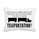 Teleportation Truck Driv Rectangular Canvas Pillow