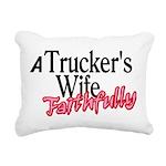 A Trucker's Wife - Faith Rectangular Canvas Pillow