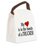 My Heart in the Hands Trucker Canvas Lunch Bag