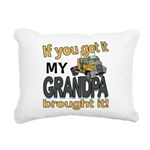Grandpa Brought it Rectangular Canvas Pillow