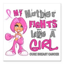 Fights Like a Girl 42.9 Breast Cancer Square Car M