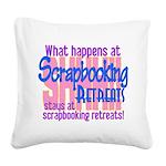 Scrapbooking Retreats Shhh! Square Canvas Pillow