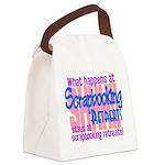 Scrapbooking Retreats Shhh! Canvas Lunch Bag