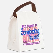 Scrapbooking Retreats Shhh! Canvas Lunch Bag