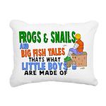 Frogs & Snails Rectangular Canvas Pillow