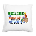 Frogs & Snails Square Canvas Pillow