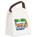 Frogs & Snails Canvas Lunch Bag
