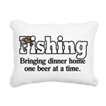 one beer at a time.png Rectangular Canvas Pillow